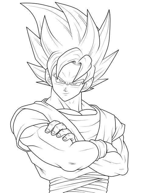 coloring pages goku 2249x3025 source mirror