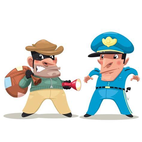 ladari di design ladro e poliziotto di design scaricare vettori gratis