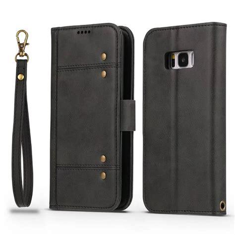 42403 Black Leather Flip Skirt wholesale wallet premium protective pu leather flip cover card slot side pocket magnetic for