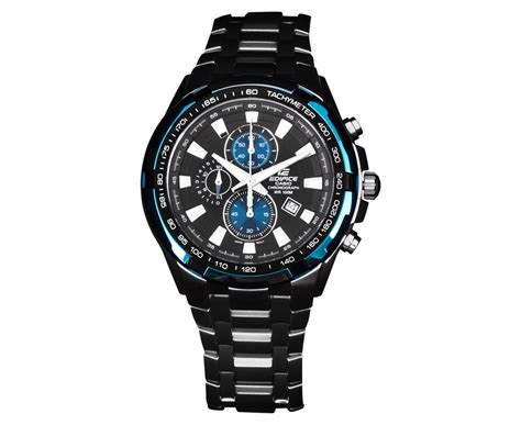 Terbaru Casio Edifice Ef 539 Combinasi Stainless Steel Termurah casio edifice s 54mm ef539d 1a2 stainless steel chronograph black blue silver