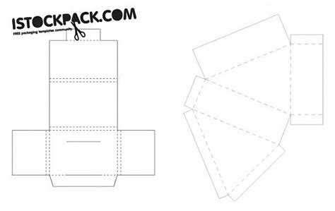 box template design box cutout design template vector vector free