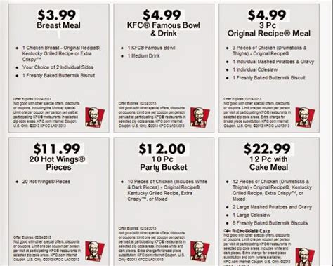 printable restaurant coupons louisville ky 17 99 kfc march 2015 2017 2018 best cars reviews