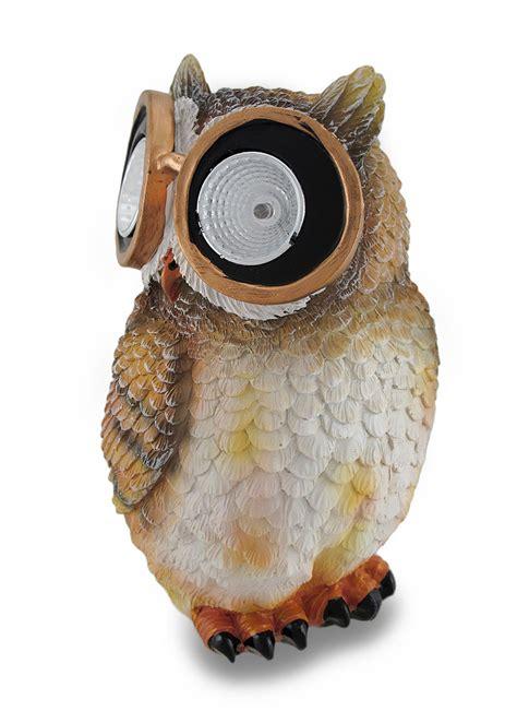 solar accent lights outdoor owl solar powered outdoor accent light ebay