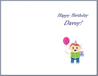 How To Print Your Own Greeting Cards Print Your Own Birthday Card Template