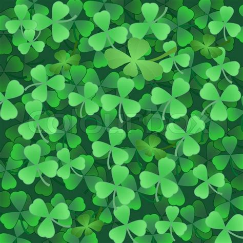 shamrock green clover shamrock green background to st stock vector