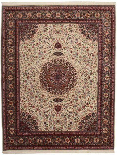 rug style 8 x 10 silk wool tabriz style rug 14156
