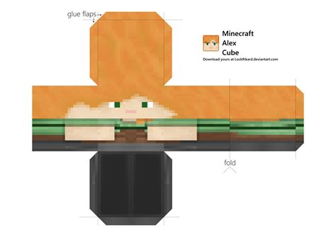 cube paper craft alex cube papercraft by lockrikard on deviantart