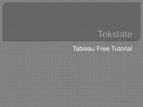 tableau server tutorial for beginners tableau free tutorial