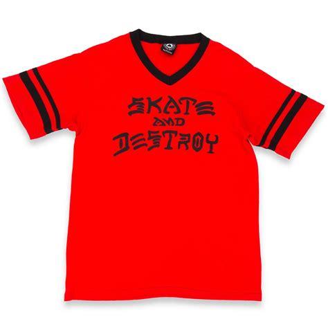 Kaosbajut Shirt Thrasher 1 thrasher skate destroy ringer t shirt black