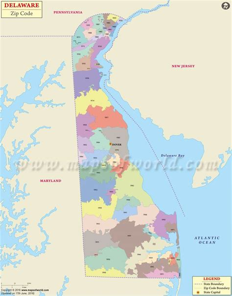 zip code map of usa delaware zip codes map list counties and cities