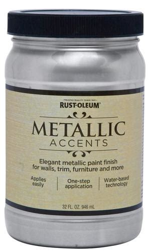 rust oleum 174 metallic accents sterling silver paint 1 qt at menards 174