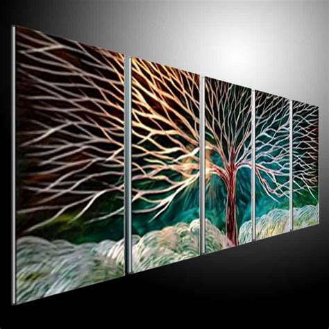 original art wall decor home decor modern art european art metal sculpture wall art green tree original abstract wall