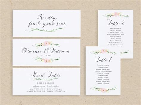 table name cards template free wedding seating chart template seating plan seating