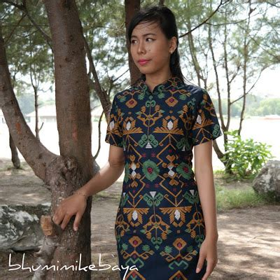 Dress Motif Songket Bali dress tenun ikat nan memikat