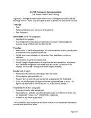 aa 320 lab report format grading 1 aa 320 aerospace