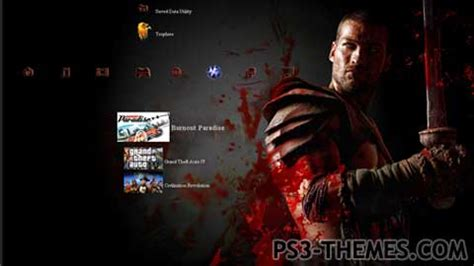 ps3 themes com ps3 themes 187 spartacus