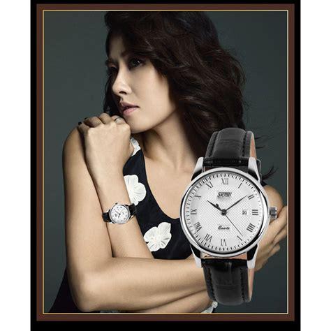 Jam Tangan Sa0000l Wanita Black White skmei jam tangan analog wanita 9058cl white black jakartanotebook