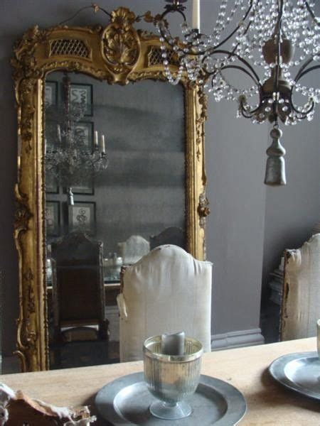 gray and gold baroque floor mirror french dining room alex macarthur