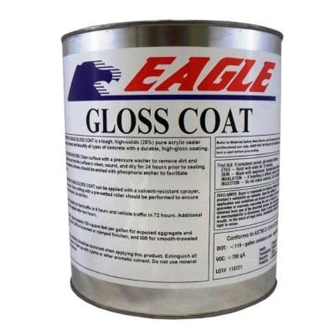 Concrete Countertop Sealer Home Depot by Eagle 1 Gal Gloss Coat Clear Look Solvent Based Acrylic Concrete Sealer Euc1 The Home Depot