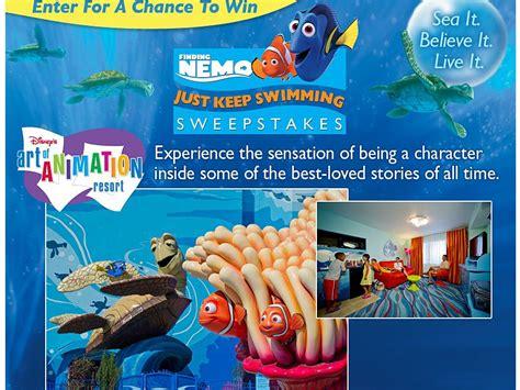 Disney Sweepstakes - disney finding nemo just keep swimming sweepstakes