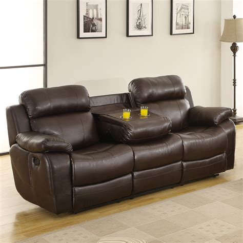 reclining sofa with drink holder reclining sofa with cup holders 54 with reclining sofa