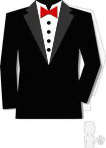How To Make A Tuxedo Out Of Paper - best photos of tuxedo jacket printable template card