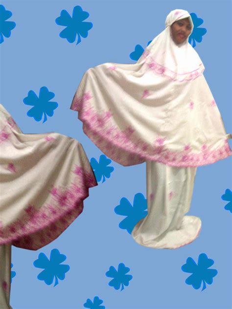Batik Gamis Kd Melati Warna mukena setelan katun doby motif putih astuti bordir