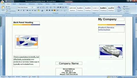 how to create a brochure in microsoft word 2007 with sles how to make a tri fold document using microsoft word