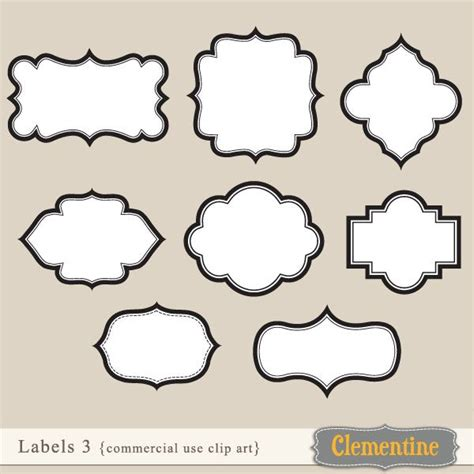 image gallery label shapes template