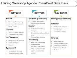 training workshop agenda powerpoint  deck