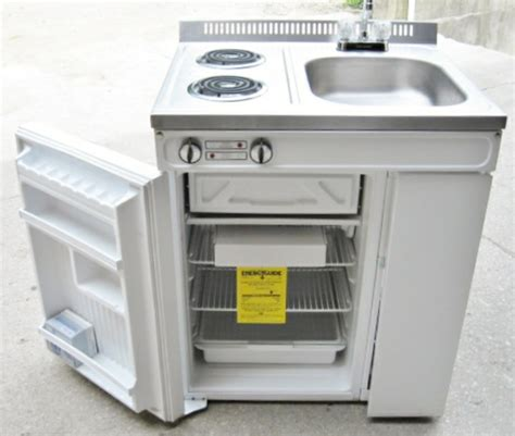 sink stove refrigerator combo woods compact kitchen 2 element stove refrigerator sink