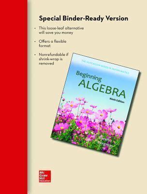 Beginning Algebra beginning algebra stefan baratto 9780077574215
