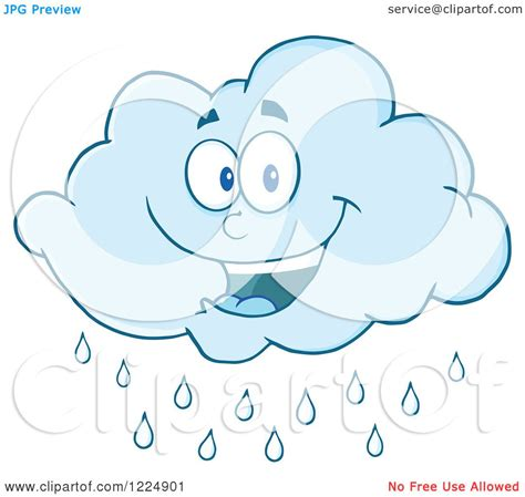 clipart of a happy rain cloud mascot royalty free vector