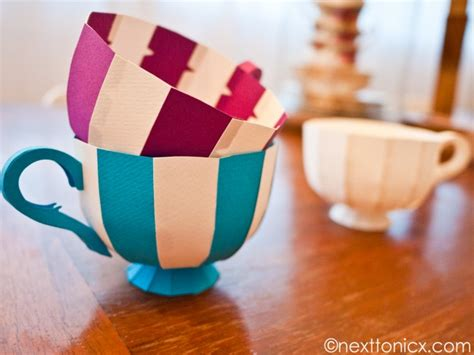 Make Paper Cup - make some paper teacups how about orange