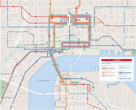 usa map jacksonville jacksonville downtown transport map