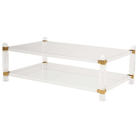 Modern Acrylic Coffee Table 78 Images About Modern Lucite Glass And Brass Coffee Tables On Pinterest Furniture Glasses