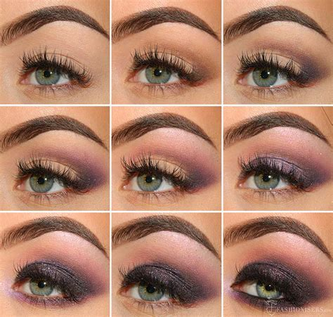 eyeshadow tutorial deep set eyes deep purple smokey eye makeup tutorial fashionisers