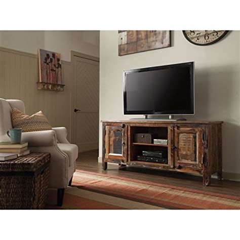 coaster 700303 home furnishings tv console reclaimed wood