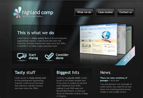 modern templates well designed psd website templates for free