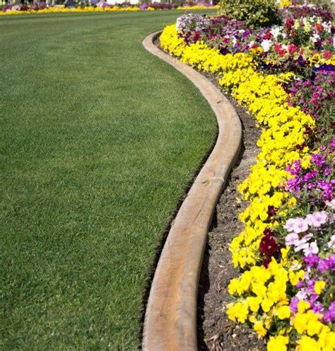 formal flower garden  curved concrete edgingjpg