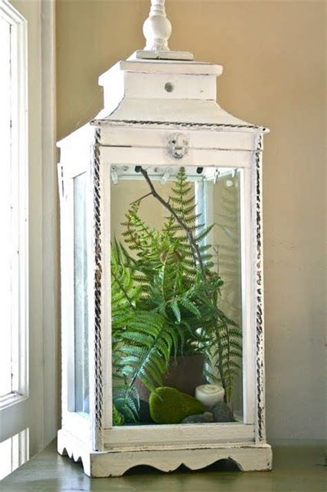 lantern home decor oversized lanterns make chic terrariums this one has fake