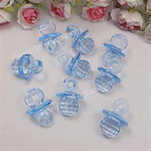 200 blue pacifier acrylic bead baby shower decoration