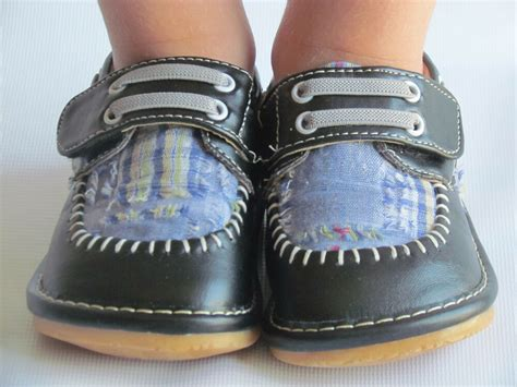 toddler shoes squeaky shoes boys black w plaid dress shoes up to size 7 ebay