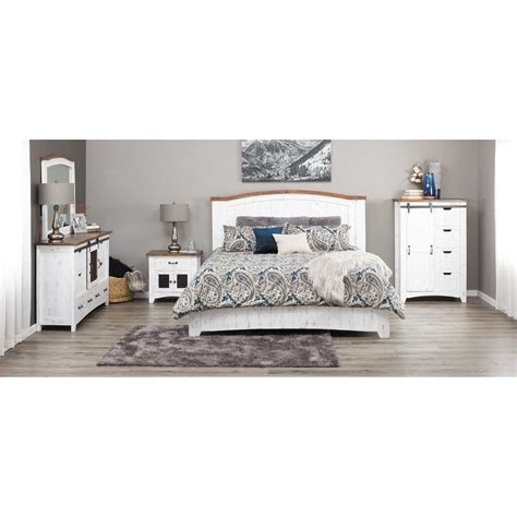 5 piece bedroom set pueblo white 5 piece bedroom set ifd360q dsr mir ntst
