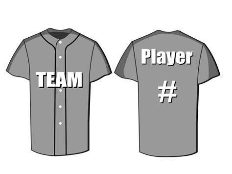 jersey design free vector baseball jersey template vectors online marketing
