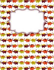 printable elephant binder cover