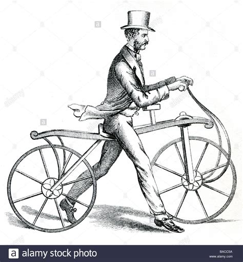 how to your to run with a bike the dandy running machine bike bicycle velocipede draisine stock photo royalty