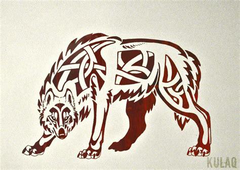 tribal celtic wolf by edeneue on deviantart