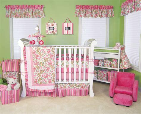 Trend Lab Paisley Park 4 Pc Baby Nursery Crib Bedding Set Pink Paisley Crib Bedding