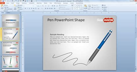 free download design template powerpoint 2010 free pen